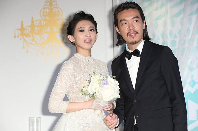 戴佩妮与老公已结婚五年婚礼现场